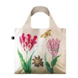 Shopper opvouwbaar, Twee tulpen, schelp en vlinder, Marrel
