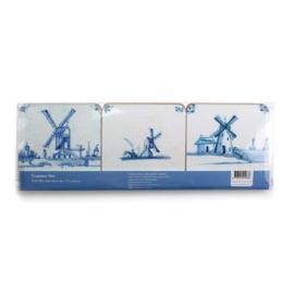 Onderzetters, Delfts Blauwe Tegels - Windmolens