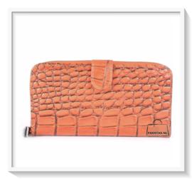 Portemonnee / Kroko grof / kleur oranje