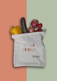 Jungle groente- en fruitzakje