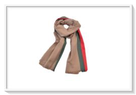Sjaal Pashmina: Cashmere: Beige/zand/licht bruin/groen/rood