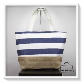 Shopper stijl 1: blauw / wit