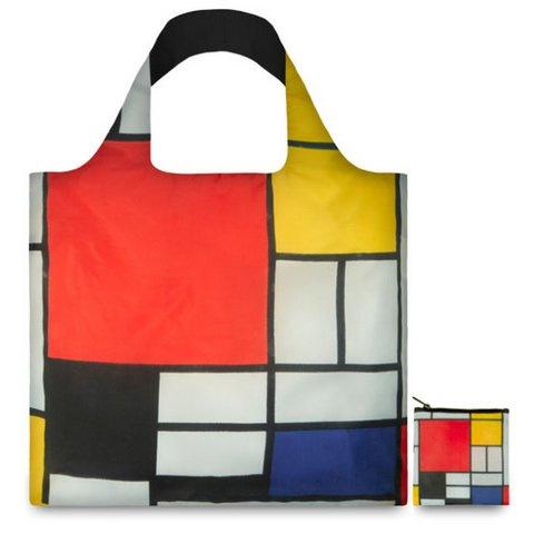 Opvouwbare shopper, compositie PIET MONDRIAN