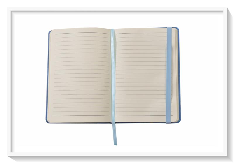 Van Gogh Amandelbloesem: noteboek: blauw