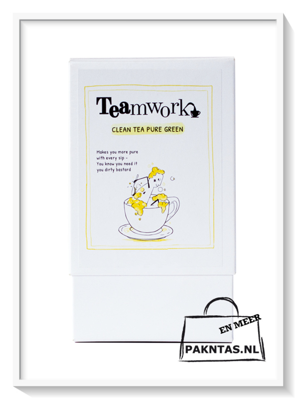 Teamwork; Clean Tea Pure Green: Pyramid Bags