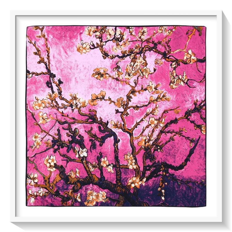 Van Gogh Amandelbloesem: Cashmere: roze /paars