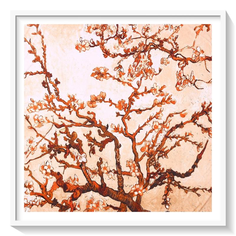 Van Gogh Amandelbloesem: zijde: Beige oranje