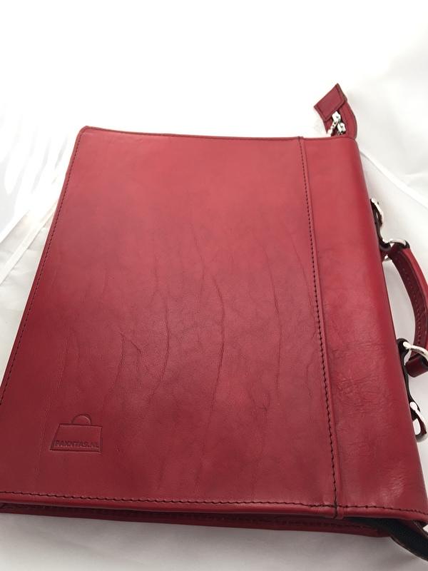 Exclusieve Aktetas Renee: kleur Rood