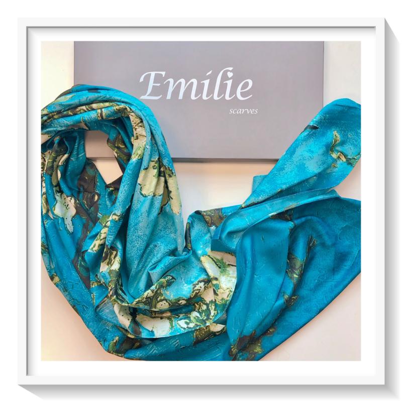 Van Gogh Amandelbloesem: zijde: blauw