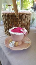 Teacup pinkushion grandma