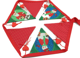 Kerst vlaggetjes met hartjes