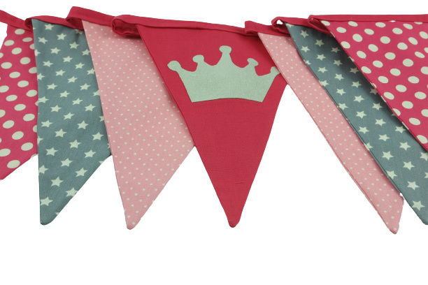 Prinses vlaggenlijn in themakist Feestkoters