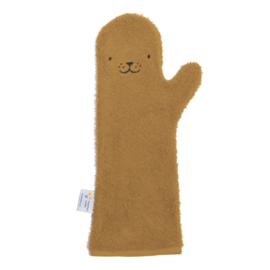 Shower glove camel