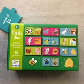 Djeco puzzel  2+ dieren/huisje