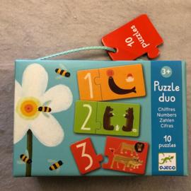 Djeco puzzel 3+ dieren tellen