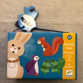 Djeco puzzel 2+ dieren/bewegen