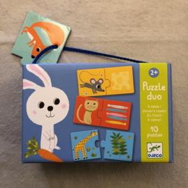Djeco puzzel 2+ dieren/eten