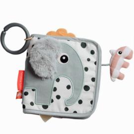 Stoffen speelboekje olifant