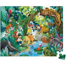 Janod puzzel jungle 6+ 100 st.