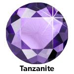 Hot Fix Rhinestone Tanzanite SS20 Zakje a 200 gram