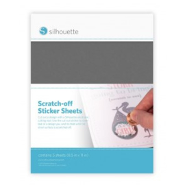 Silhouette Scratch-off Sticker Sheet