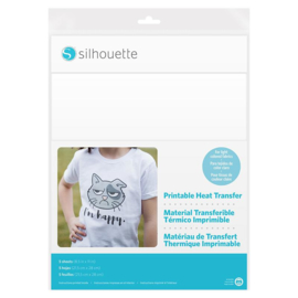 Silhouette Printable Heat Transfer For Light Fabrics