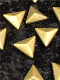 Hot Fix Nailhead Coper/Bronze Driehoek 10mm  Zakje 20 gram