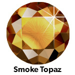 Hot Fix Rhinestone Smoked Topaas  SS16 Zakje a 50 gram