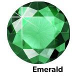 Hot Fix Rhinestone  Emerald  SS30 Zakje a 200 gram