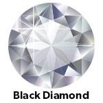 Hot Fix Rhinestone Black Diamond SS4 Zakje a 25 gram