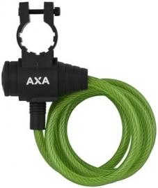 AXA Spiraalkabelslot Zipp groen 120cm