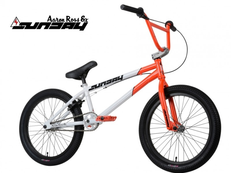 BMX SUNDAY AARON ROSS EX - FLUOR RED / WHITE