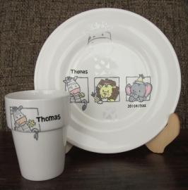 Ontbijtbord & Melkbeker Thomas