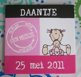 Geboorte-tegel Daantje