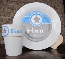 Ontbijtbord & Melkbeker Finn