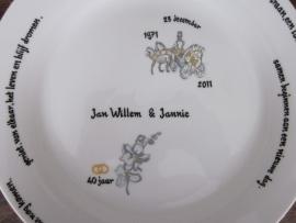Jubileumbord Jan willem & Jannie