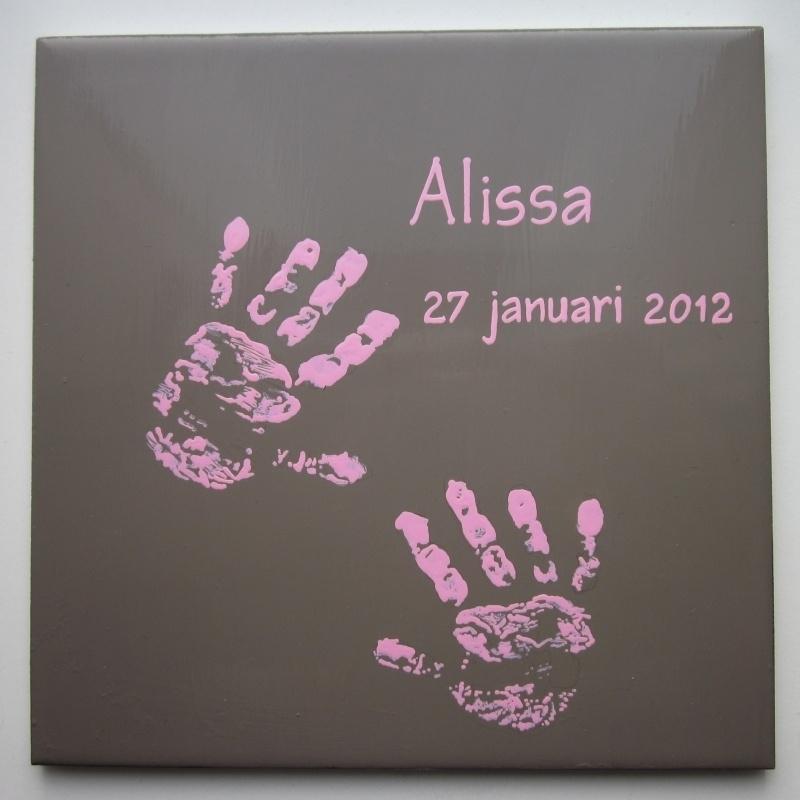 Geboortetegel Alissa