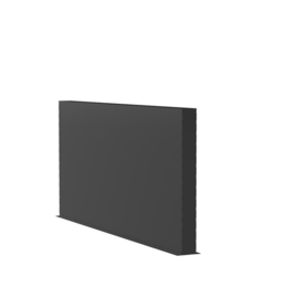 Aluminium wand 300x15x135cm
