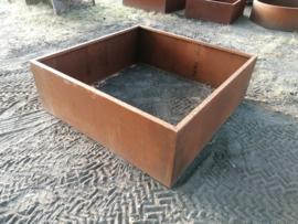 Cortenstaal plantenbak 150x150x50cm