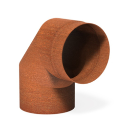Cortenstaal Kachelpijp 90° Ø20,4x20cm