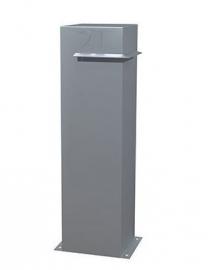 Aluminium ST Brievenbus IVAR  hoeksleuf 300x300x1200mm. Gratis bezorgd