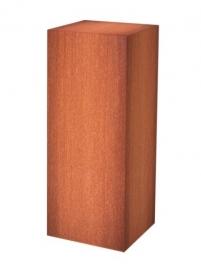 Sokkel MW Cortenstaal 23x23xh100 cm gratis bezorgd