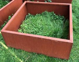 Cortenstaal plantenbak 120x120x40cm