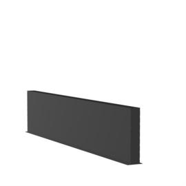 Aluminium wand L4000xD150xH800mm. Gratis bezorgd.
