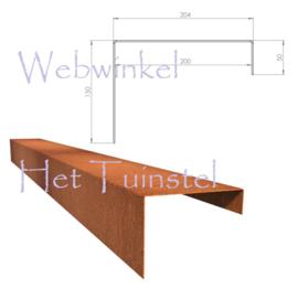 BetonTop Cortenstaal profiel 230x20,4x15cm