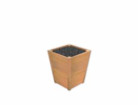Plantenbak ST hardhout Sevilla Taps L500xB500xH620mm gratis bezorgd