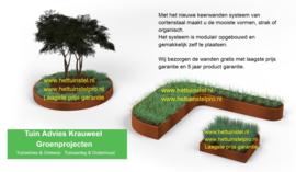 Cortenstaal keerwanden met laagste prijs garantie LEVERBAAR VANAF VOORJAAR 2018