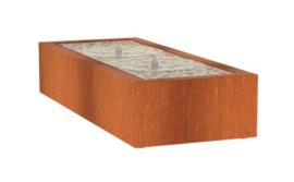 Cortenstaal Watertafel 200x60x40cm