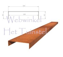 BetonTop Cortenstaal profiel 230x20,4x5cm