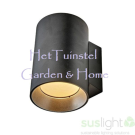 Wandlamp Sus Tube Black 230V AV 15Watt